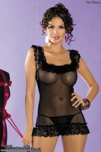 Amoresa chemise black OBS12-0006