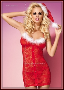 Xmas chemise & thong OBS14-006