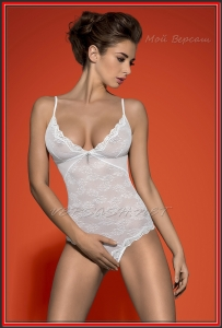 Боди Obsessive OBS16-053 Charms teddy white