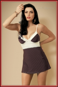 Сорочка Obsessive OBS16-058 Choco chemise