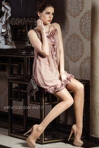 Платье шифоновое с атласной отделкой IM-Арт.09335877-3