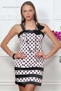 Платье нарядное с черной отделкой IM-Арт.4790