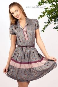 Платье с мелким цветочным принтом
